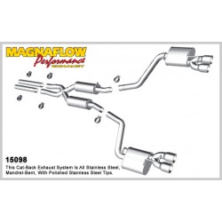 Challenger 15098 Stainless Dual Split Rear Exit Catback Exhaust