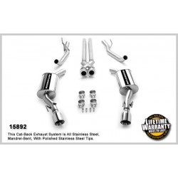 GTO 15892 Stainless Dual Split Rear Exit Catback Exhaust