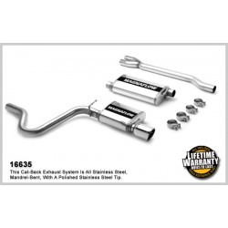 Charger 16635 Stainless Single Rear Exit Catback Exhaust