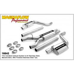 LX 16642 Stainless Dual Split Rear Exit Catback Exhaust