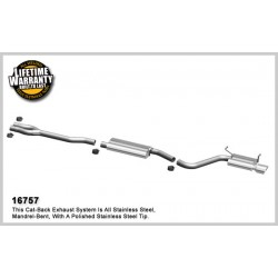 Challenger 16757 Stainless Single Rear Exit Catback Exhaust