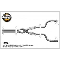 Challenger 16886 Competition Series Dual Split Rear Exit Catback Exhaust