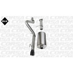 Trailblazer Corsa 14256BLK 3.0in Sport Cat-Back Single Rear Exit w/Single 4.0in Black Pro-Series Tips