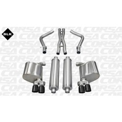 LX Corsa 14522BLK 2.5in Xtreme Cat-Back Dual Rear Exit w/Twin 3.0in Black Pro-Series Tips
