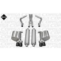 LX Corsa 14525BLK 2.5in Sport Cat-Back Dual Rear Exit w/Twin 3.0in Black Pro-Series Tips