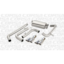 Camaro Corsa 14145 3.0in Sport Cat-Back Dual Rear Exit w/Twin 3.5in Polished Pro-Series Tips