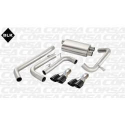 Camaro Corsa 14145BLK 3.0in Sport Cat-Back Dual Rear Exit w/Twin 3.5in Black Pro-Series Tips