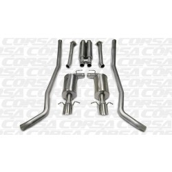 CTS Corsa 14155 2.5in Sport Cat-Back Dual Rear Exit w/Single 4.0in Polished Pro-Series Tips