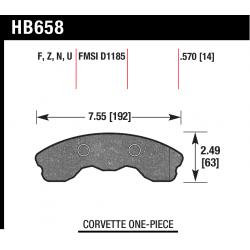HB658Z.570 Front Hawk Ceramic Brake Pads