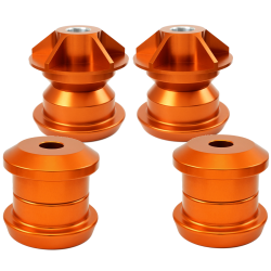 Pfadt Solid Rear Subframe Mounts Camaro - Orange