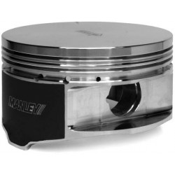 Manley Small Block Chevrolet LS Series -4cc Flat Top Piston Set with Rings