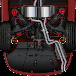GTO 46304-HK Rear Lower Shock Bolt Hardware Kit (Replaces 92036304 x2/92078237 x2)