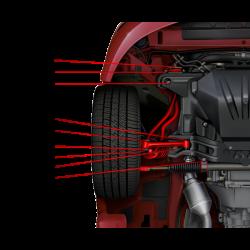 GTO 14596-HK Front Swaybar Frame Bracket Hardware Kit (Per Set of 4)
