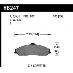 Hawk HB247x.575 Front Brake Pads - Street