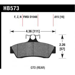 Hawk HB573x.615 Rear Brake Pads - Street