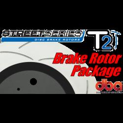 GTO DBA T2 Street Series Slotted Brake Rotors - 2005-2006
