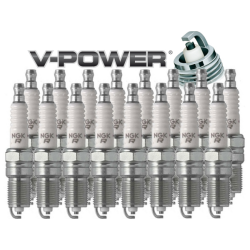 NGK V-Power Spark Plug Heat Range 5 - Box of 4 (LZTR5A-13) .050
