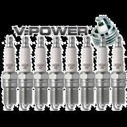 NGK V-Power Spark Plug Heat Range 6 - Box of 4 (TR6) .052