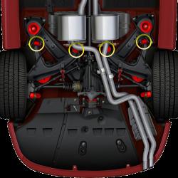 GTO 47937-HK Rear Lower Control Arm Hardware Kit (Replaces 90447937 x2/92138178 x2)