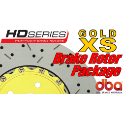 GTO DBA XS Slotted & Drilled Brake Rotors - All 4 - 2005-2006